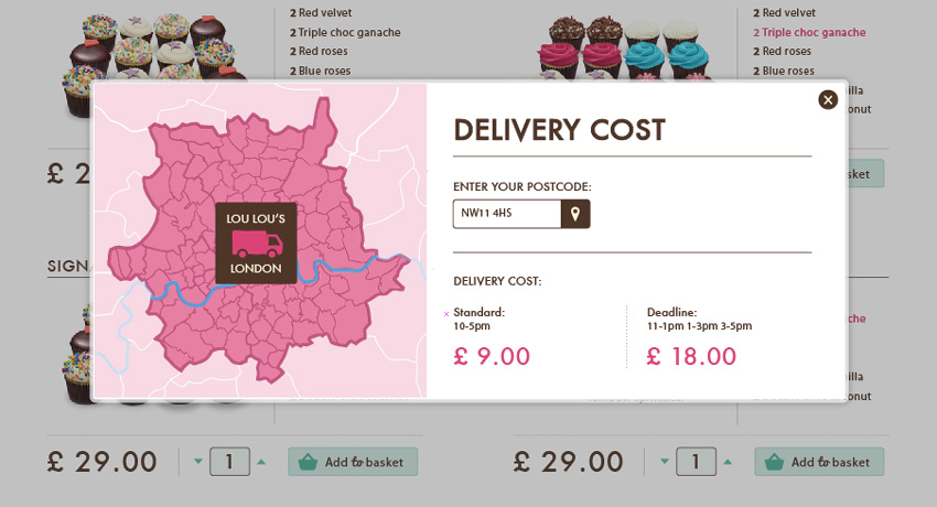 Delivery cost calculation